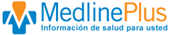 Medline Plus logo and link to medications in Spanish